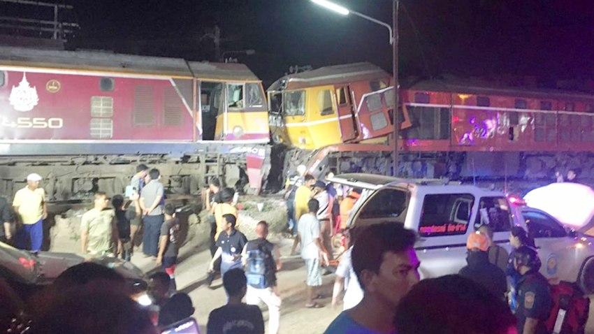 train crash thailand